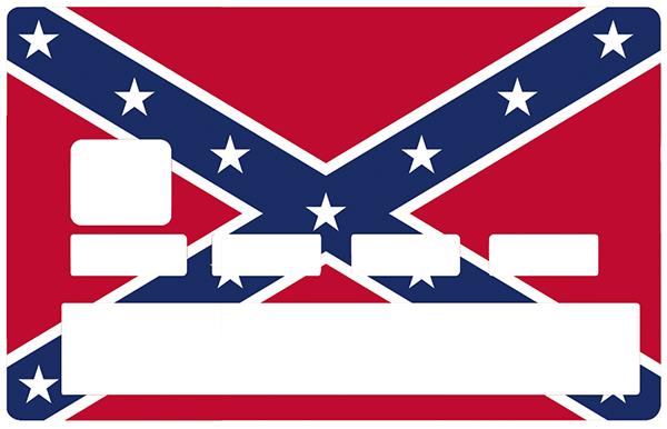 Sticker pour carte bancaire, Drapeau confédéré