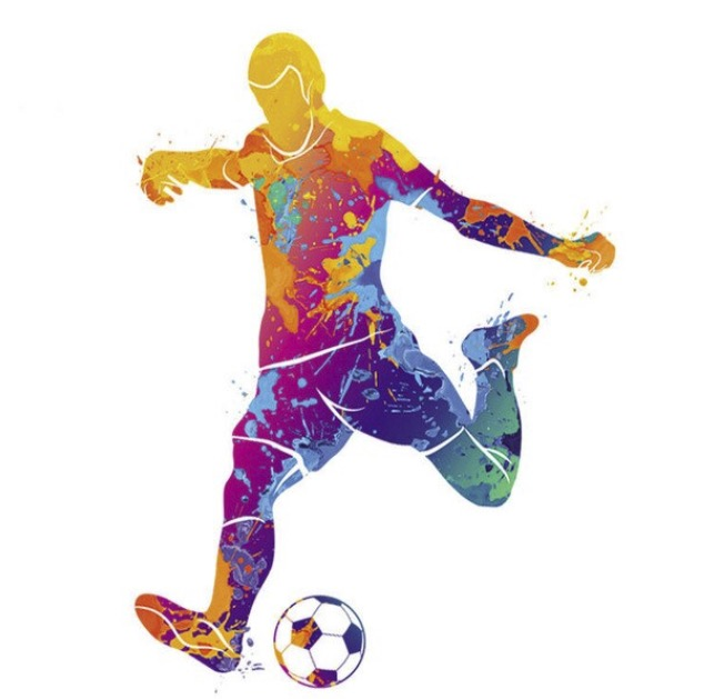 Motif thermocollant, Footballeur
