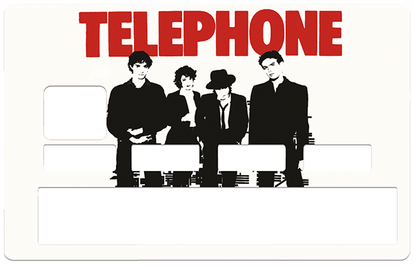 Sticker pour carte bancaire, TELEPHONE , limited edition 100 ex.