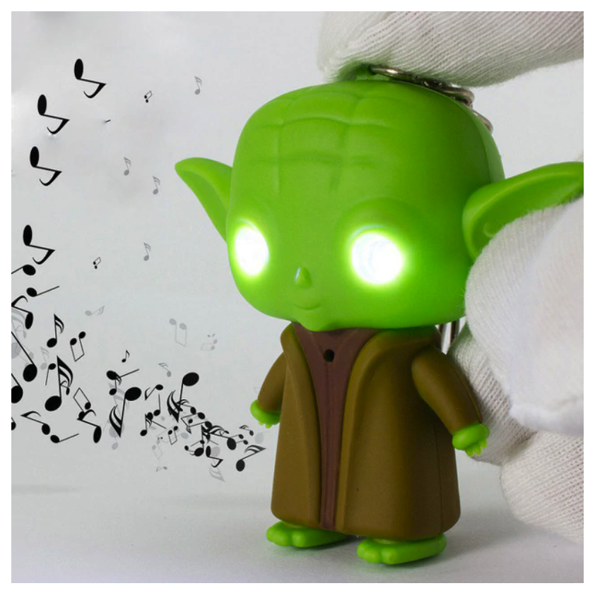 Porte Clef lumineux et sonore, Baby Yoda