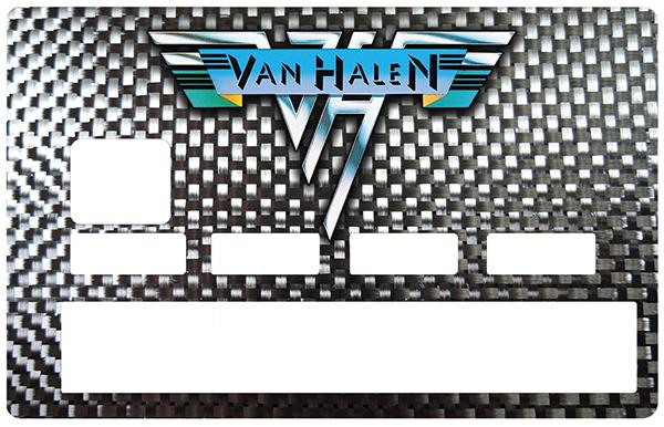 Sticker pour carte bancaire, Tribute to VAN HALEN , edition limitée 100 ex.