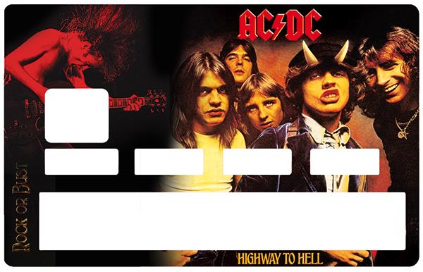 Sticker pour carte bancaire, Tribute to ACDC , edition limitée 100 ex.