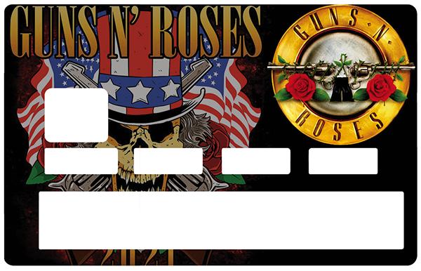 Sticker pour carte bancaire, GUNS N\' ROSES