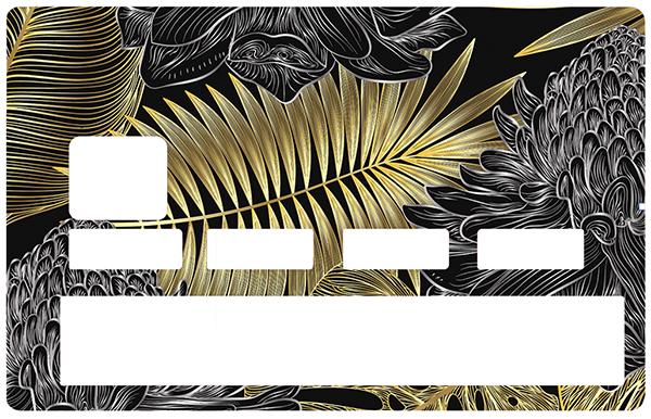 Sticker pour carte bancaire, Feuillage d\'or