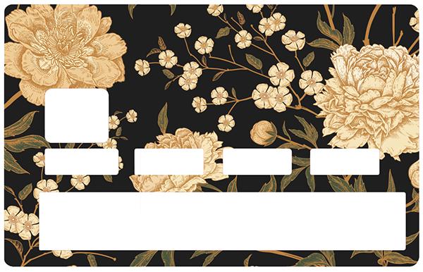 Sticker pour carte bancaire, Fleurs d\'or