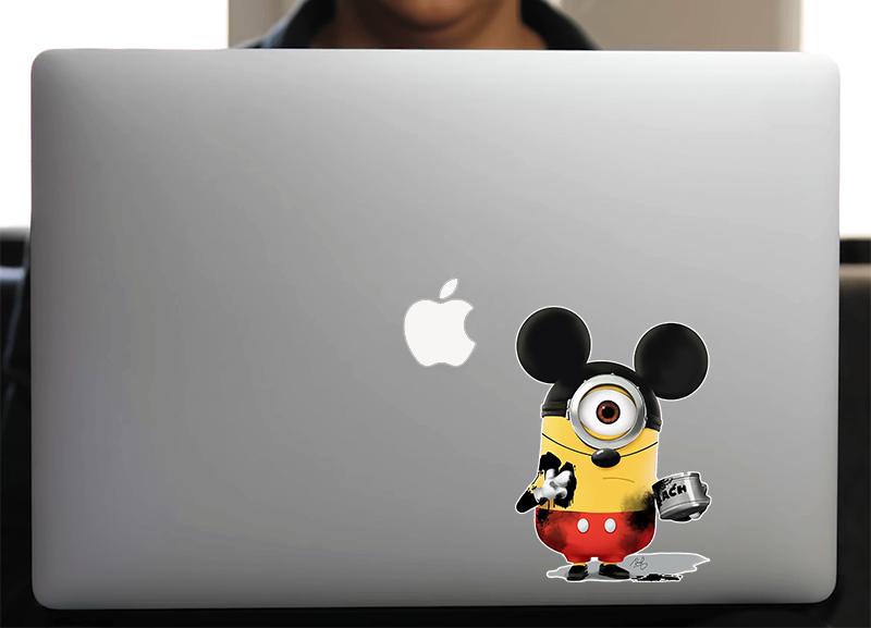 Sticker pour Macbook ou PC, MINION MICKEY H.15 cm