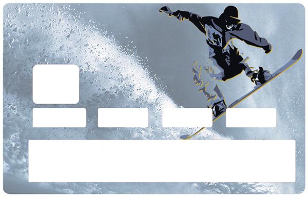 Sticker pour carte bancaire, SNOWBOARD