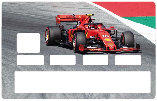 Sticker pour carte bancaire, Formule 1, le 16