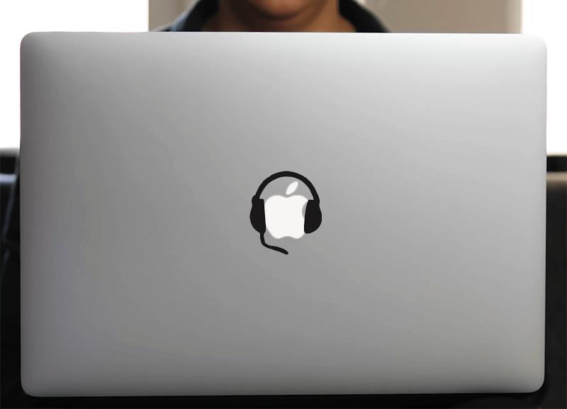 Sticker pour MacBook ou ipad, CASQUE GAMER
