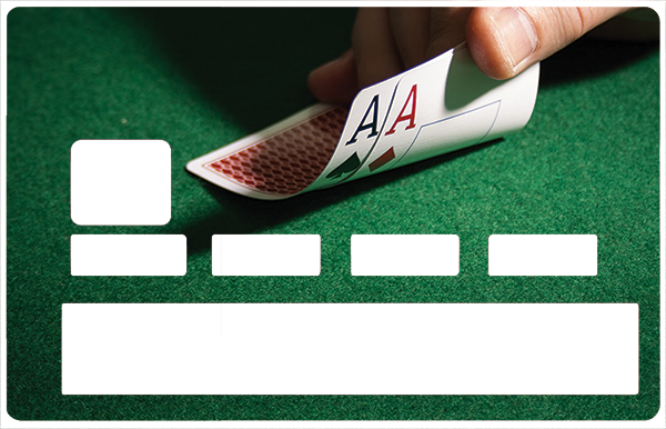 Sticker pour carte bancaire, POKER