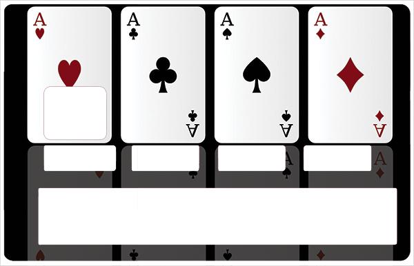 Sticker pour carte bancaire, carré d\'AS