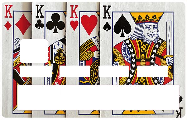 Sticker pour carte bancaire, 4 ROIS