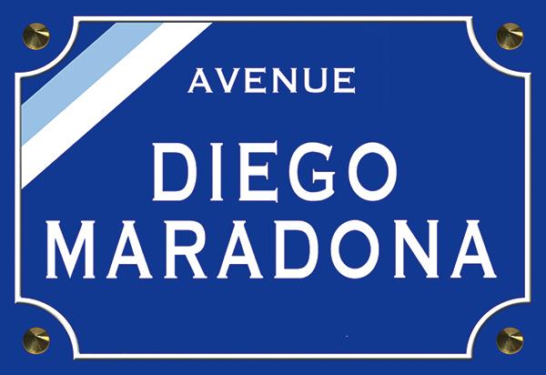 Sticker nom de rue, Diego Maradona