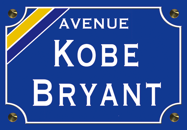 Sticker nom de rue, Kobe Bryant