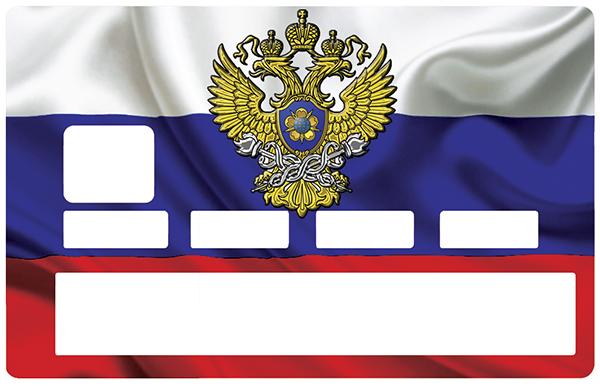 Sticker pour carte bancaire, drapeau RUSSIE