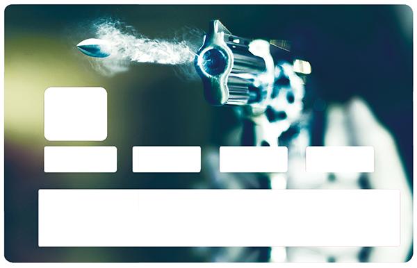 Sticker pour carte bancaire, Pistolet