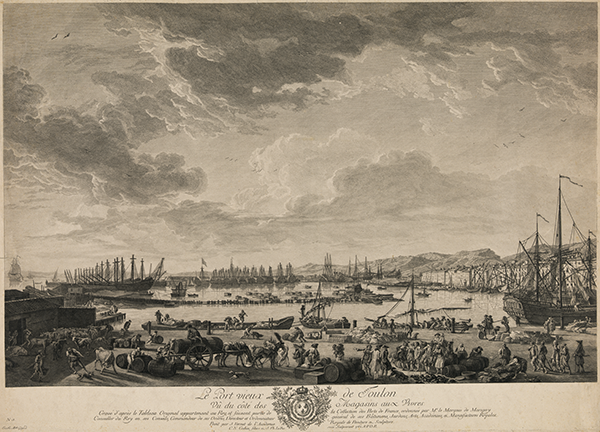 Le port de Toulon, 1780