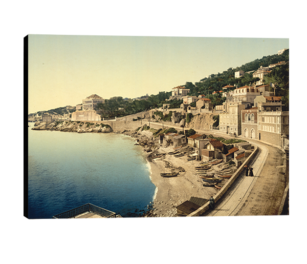 Photo sur toile -  Marseille, la corniche, 1880