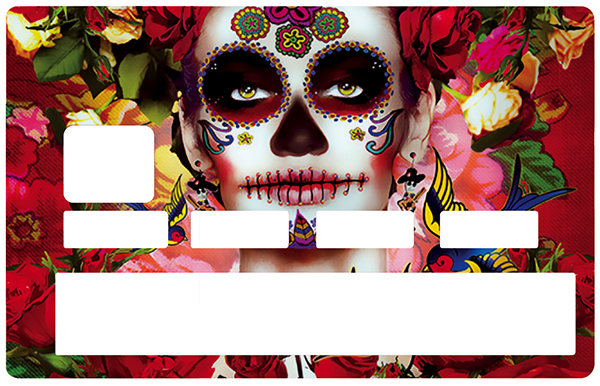 Stickers pour carte bancaire, Catarina Calavera 2016