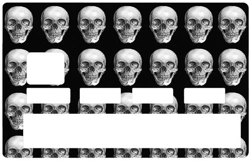 Stickers pour carte bancaire, Skull