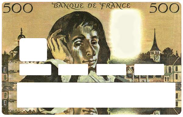 Sticker pour carte bancaire, le pascal 500 francs
