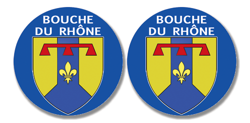 2 badges adhésifs, 13 bouche du Rhône