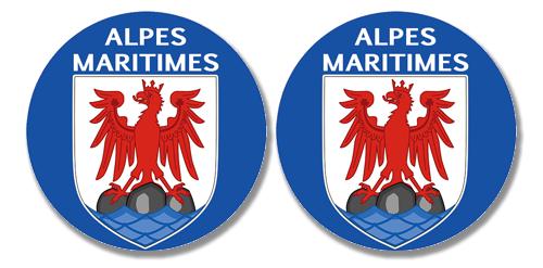 2 badges adhésifs, 06 Alpes Maritimes