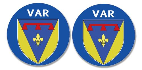 2 badges adhésifs, 83 VAR