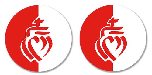 2 badges adhésifs, Coeur vendéen