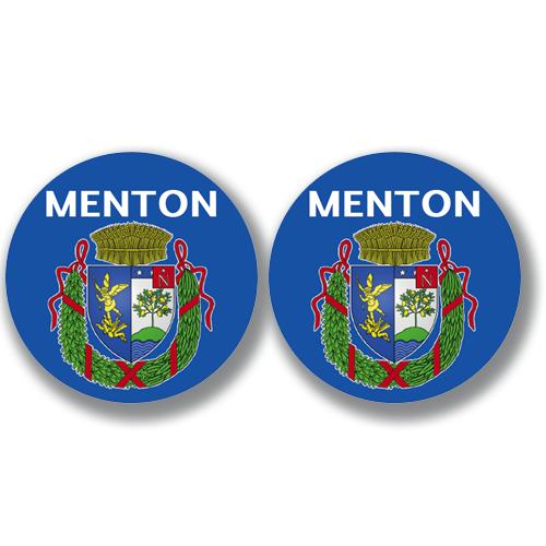 2 badges adhésifs, 06 MENTON