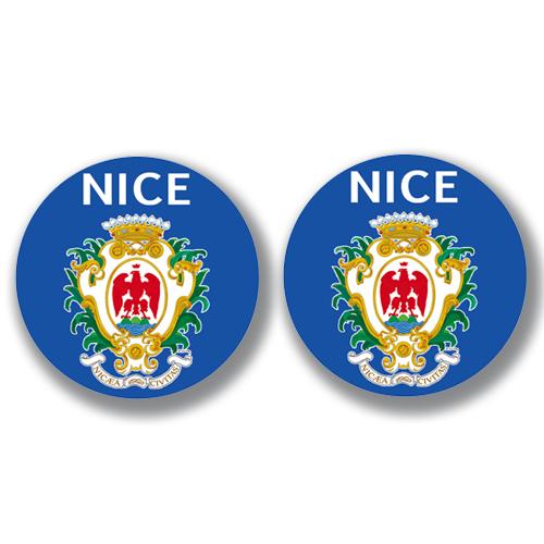 2 badges adhésifs, 06 NICE