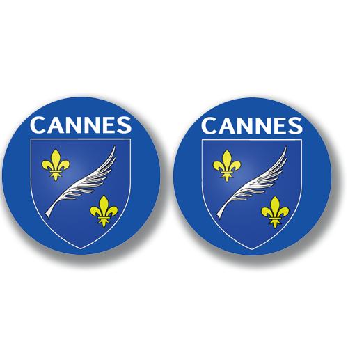 2 badges adhésifs, 06 CANNES