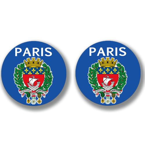 2 badges adhésifs, 75 PARIS