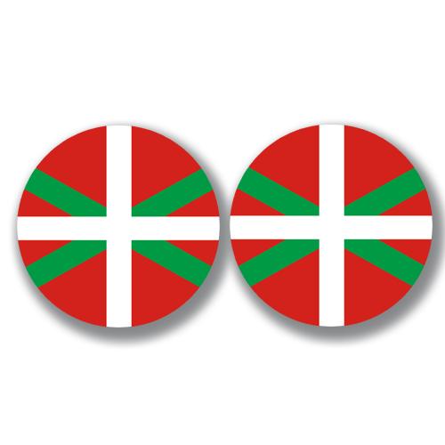 2 badges adhésifs, Pays Basque, Euskal Herria