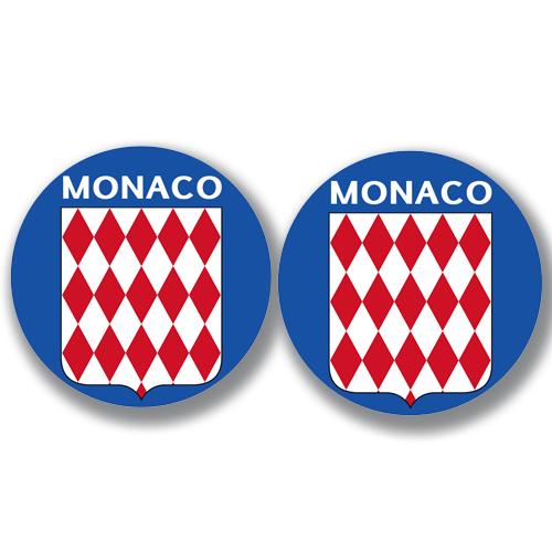 2 badges adhésifs, MONACO