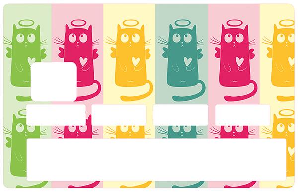Sticker pour carte bancaire, Saint chat