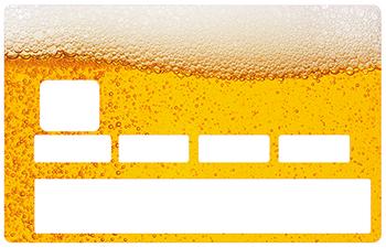 Sticker pour carte bancaire, Biére