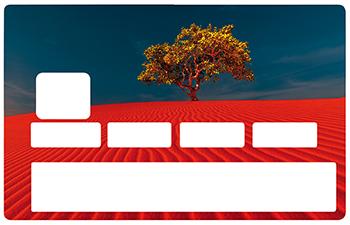 Sticker pour carte bancaire, Sables rouges