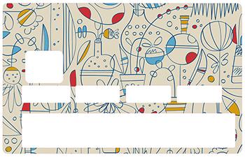 Sticker pour carte bancaire, CUBISME