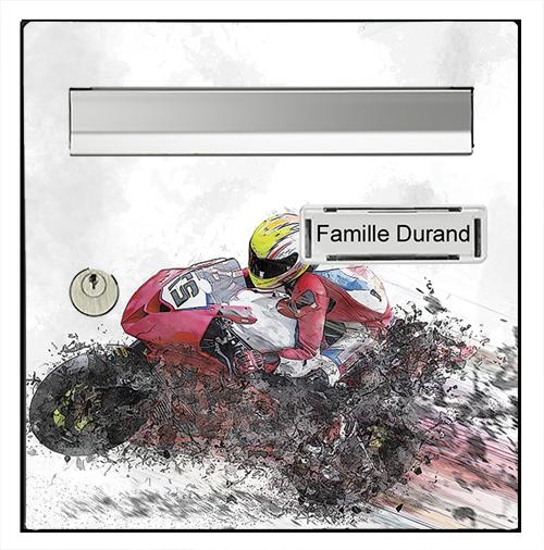 Sticker pour boîte aux lettres, Moto