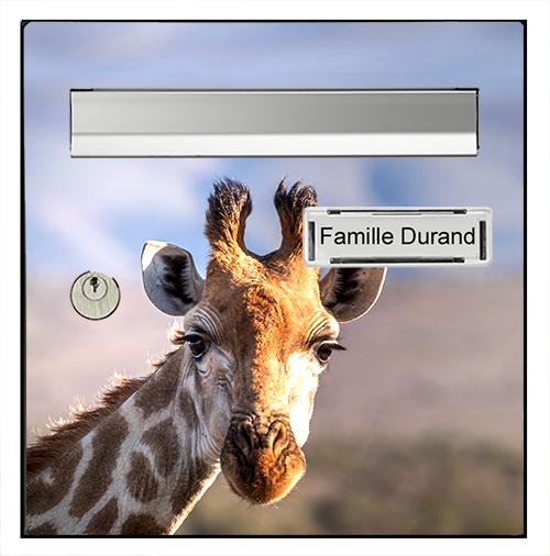 Sticker pour boîte aux lettres, Girafe