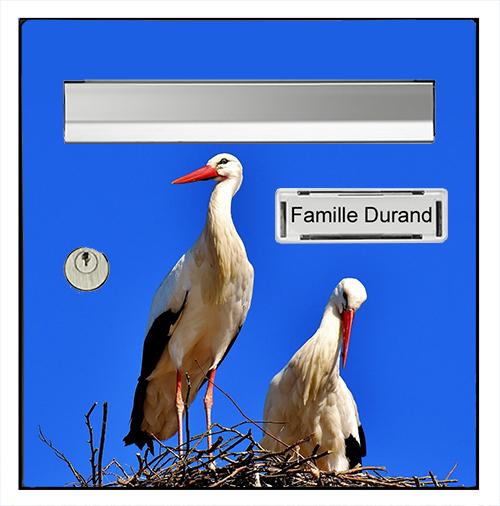 Sticker pour boîte aux lettres, Les cigognes