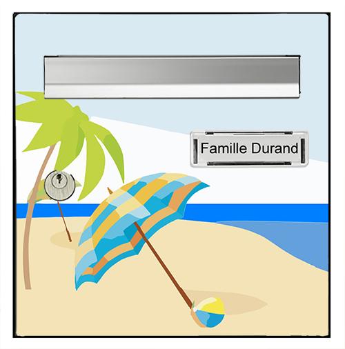 Sticker pour boîte aux lettres, Vacance