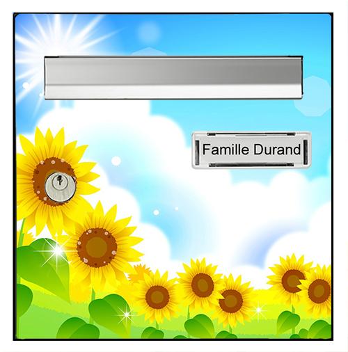 Sticker pour boîte aux lettres, Tournesols