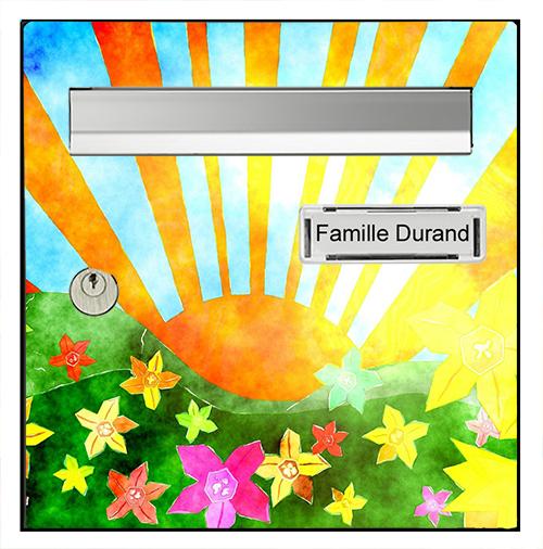Sticker pour boîte aux lettres, Lever de soleil