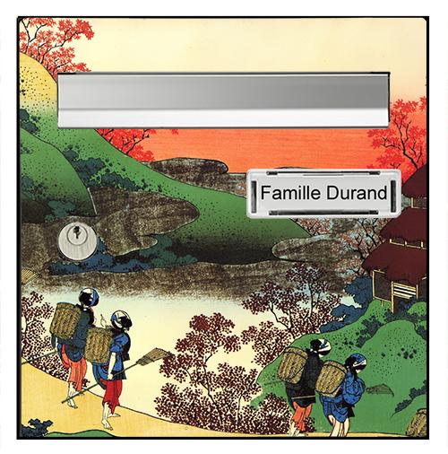 Sticker pour boîte aux lettres, Le Japon d\'Hokusai
