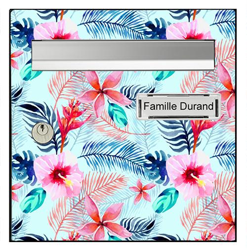 Sticker pour boîte aux lettres, Feuilles multicolores
