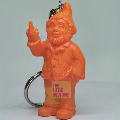 Porte clef, le fameux nain doigt d\'honneur de Ottmar Hörl, Orange