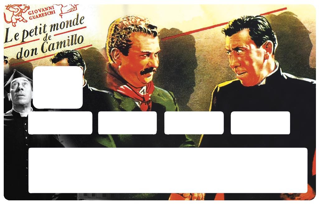 Sticker pour carte bancaire, Don Camillo