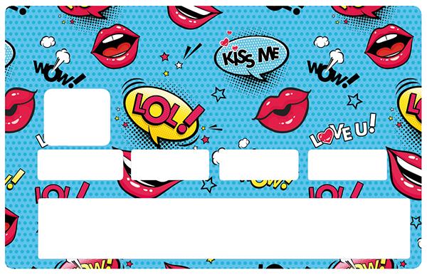 Sticker pour carte bancaire, Kiss and LoL